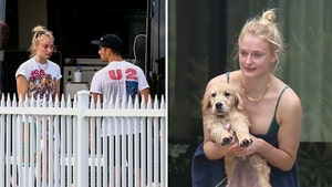 Joe Jonas & Sophie Turner Arrive at Miami Vacation Home With New Dog