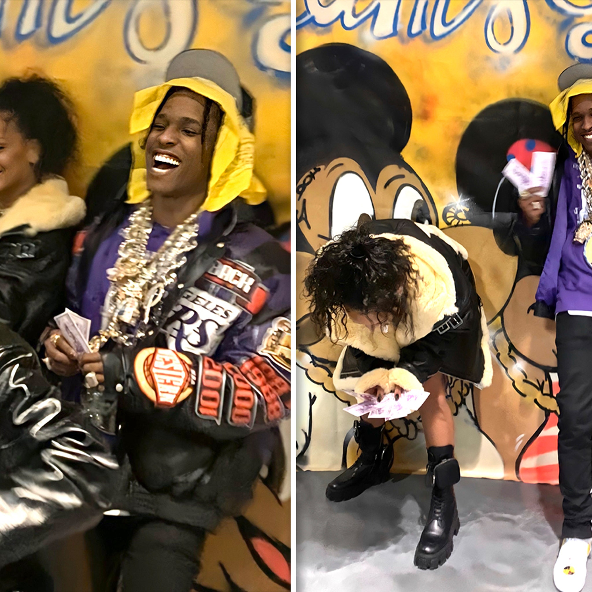 Rihanna Surfaces to Hang Out with A$AP Rocky After Hassan Split
