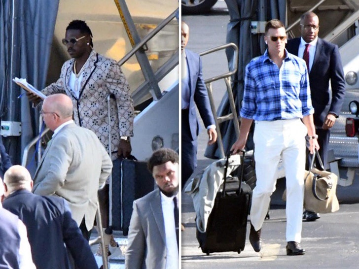 Tom Brady and Antonio Brown at the Airport