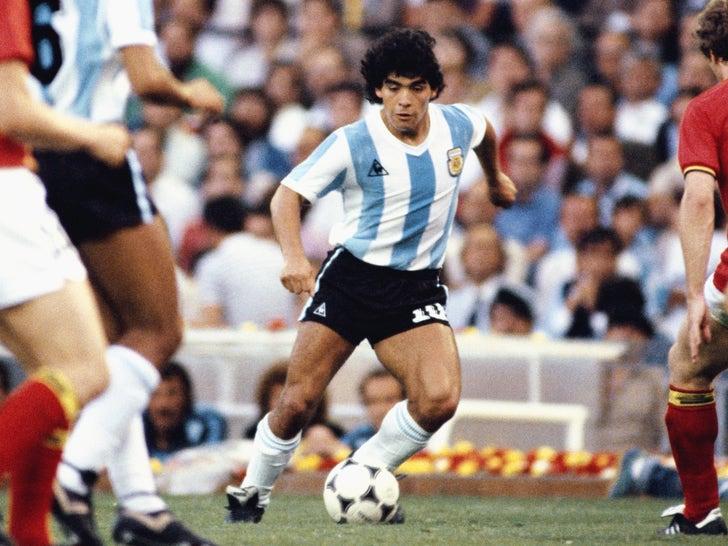 Diego Maradona On The Field