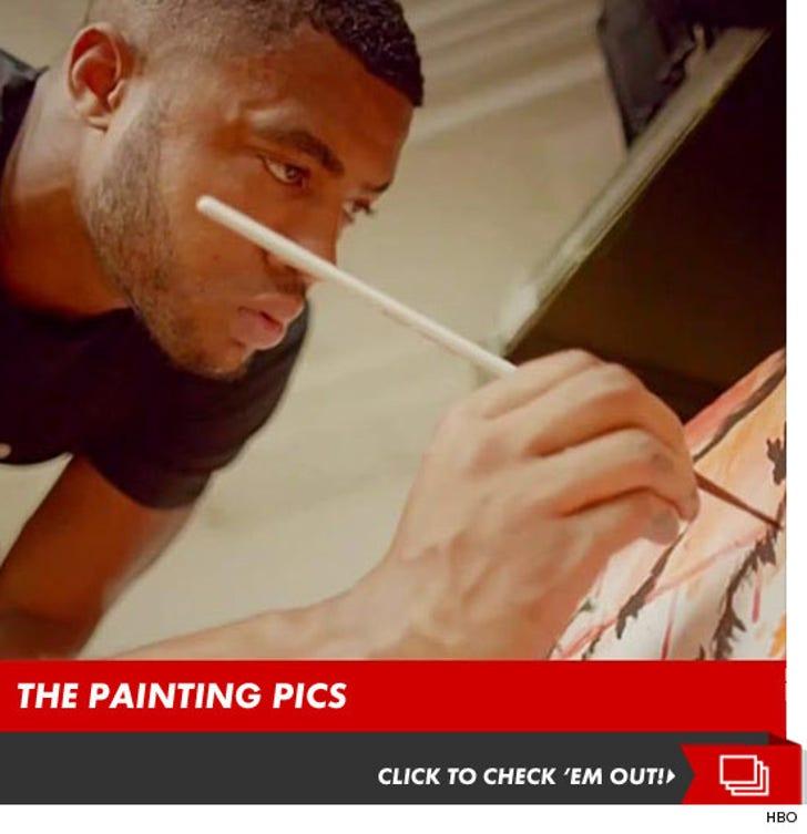 Linebacker Aaron Maybin -- The Painting Pics