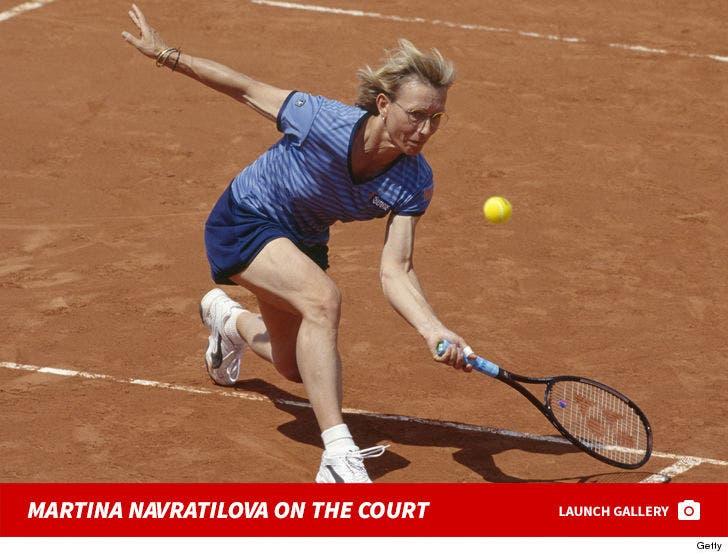 Martina Navratilova On The Court