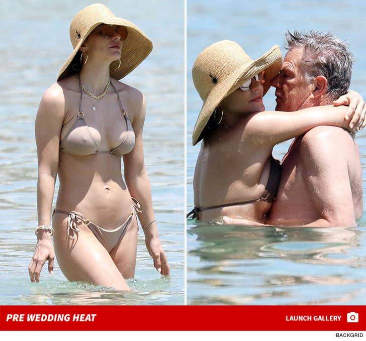 Katharine McPhee and David Foster Make Out in Mykonos