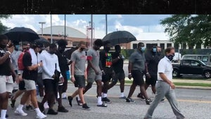 Nick Saban Leads Alabama Football Team In Social Justice March on Campus