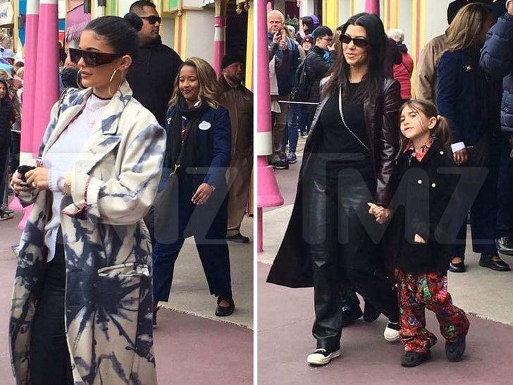 Kylie and Kourtney Hit Disney World