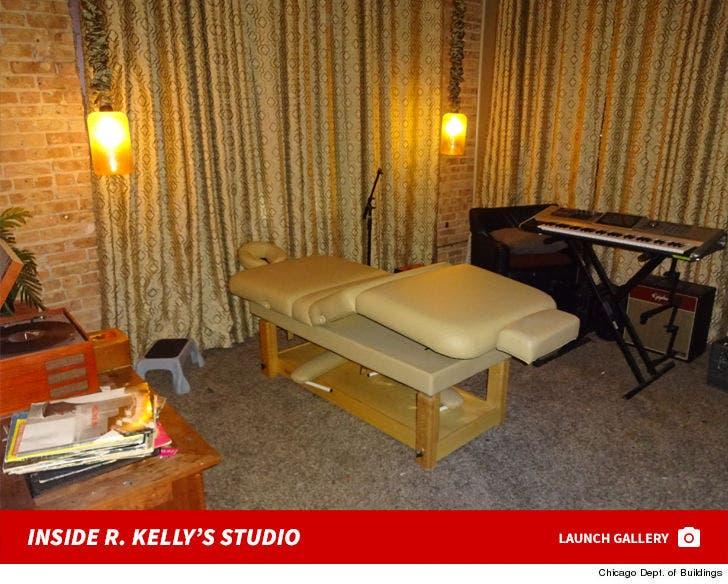 Inside R. Kelly's Studio