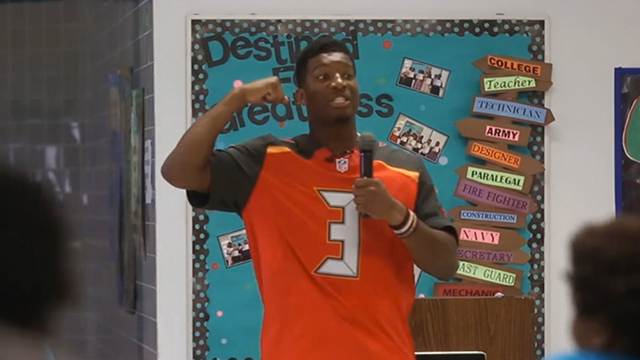Winston Kids -- Boys Strong Jameis Be to  Should Speech