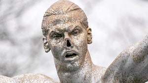 Zlatan Ibrahimovic Statue Vandalized Again, Nose Cut Off, Painted