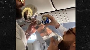 Travis Kelce Chugs Beer Off Super Bowl Trophy, Lombardi Luge!