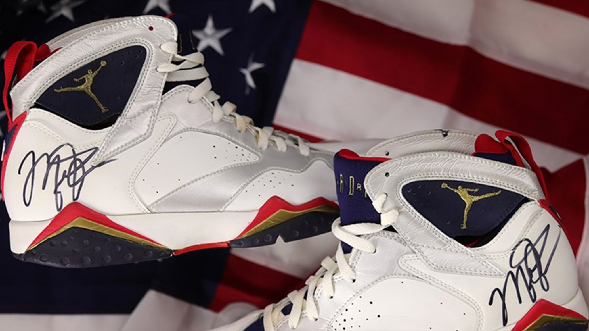 Michael Jordan Autographed, Game-Worn Dream Team Kicks On Auction Block