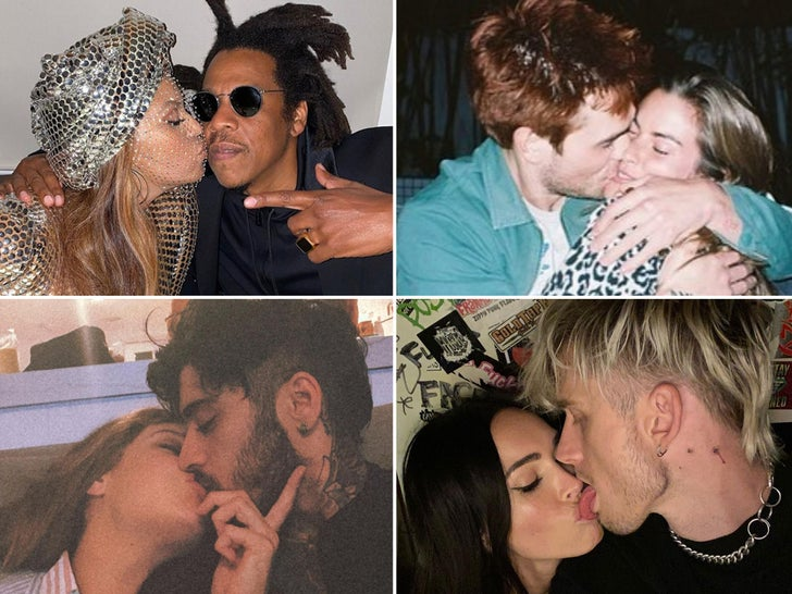 Celebrity Couples Smooching -- Pucker Up!