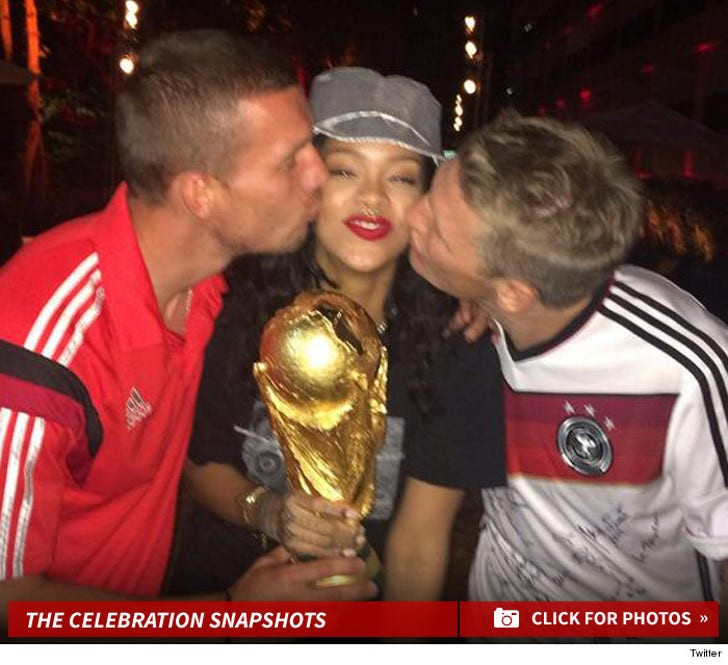 Rihanna -- I Raged With Germany ... After World Cup Victory!