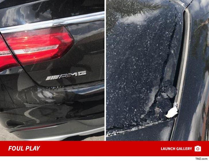 Torrei Hart Mercedes Benz Vandalized