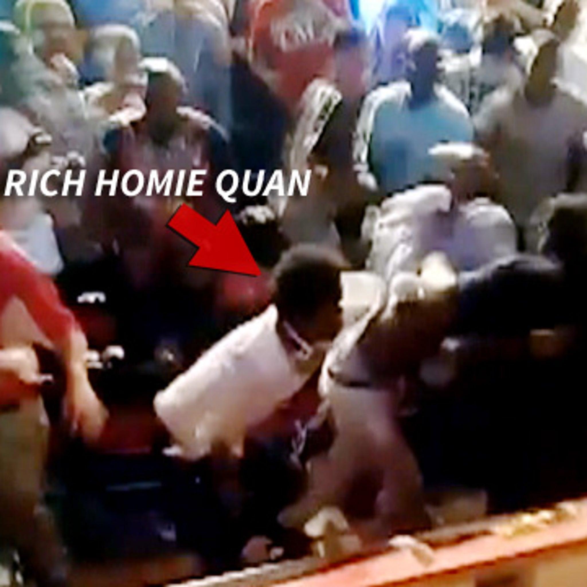 Rapper Rich Homie Quan -- Boxing Match Brawl IN THE CROWD!