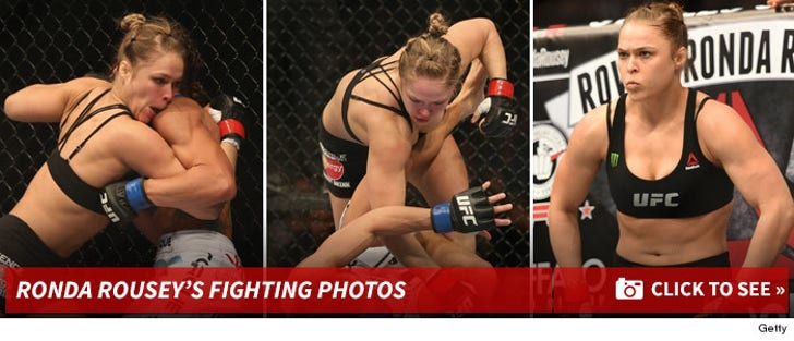 Ronda Rousey -- Fighting Photos