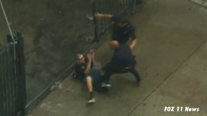 L.A. Car Chase -- Moron BEAT DOWN By Cops After High Speed Chase