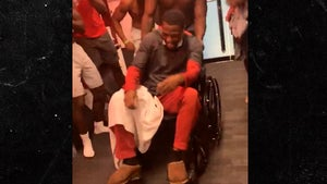 Alabama's Trey Sanders in Wheelchair After Car Crash, But I Can Still Dance!!