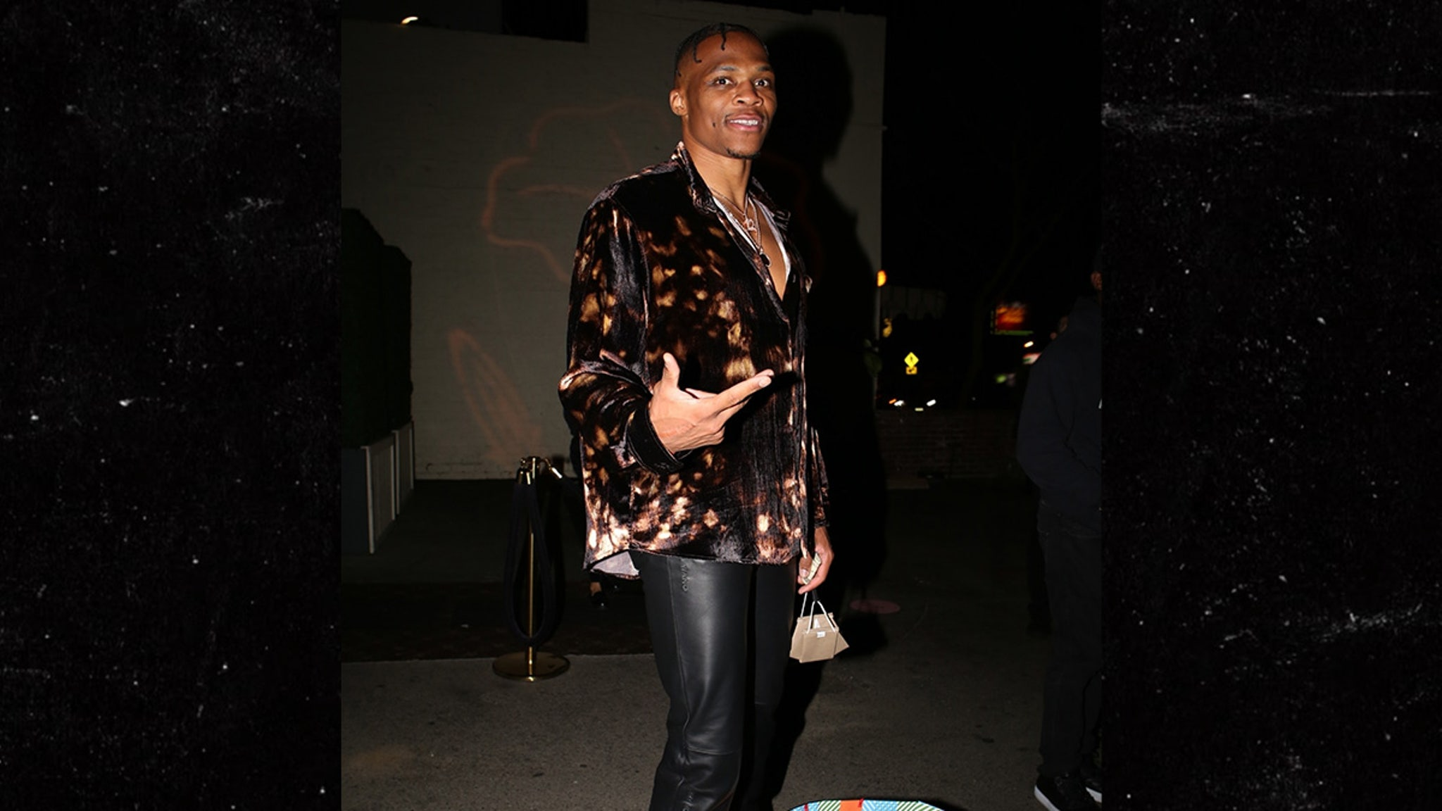 Russell Westbrook All Smiles at L.A. Birthday Dinner ...Kyrie Irving Talk To Pawns