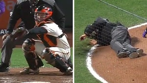 MLB Ump Kerwin Danley Drilled In Forehead By Foul Ball, KO'ed On Field