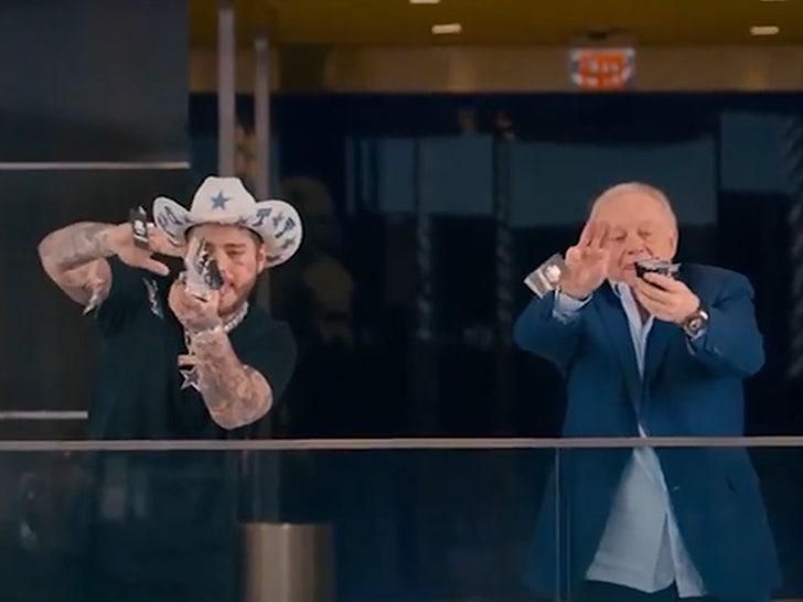 Post Malone Plays Beer Pong W/ Jerry Jones, Makes It Rain In Cowboys Schedule Release Vid.jpg