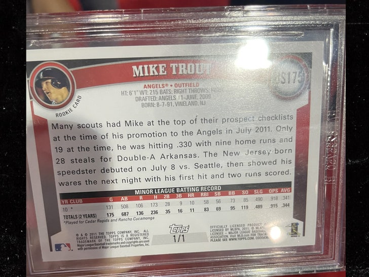 mike trout card