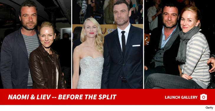 Naomi Watts and Liev Schreiber -- Before the Split
