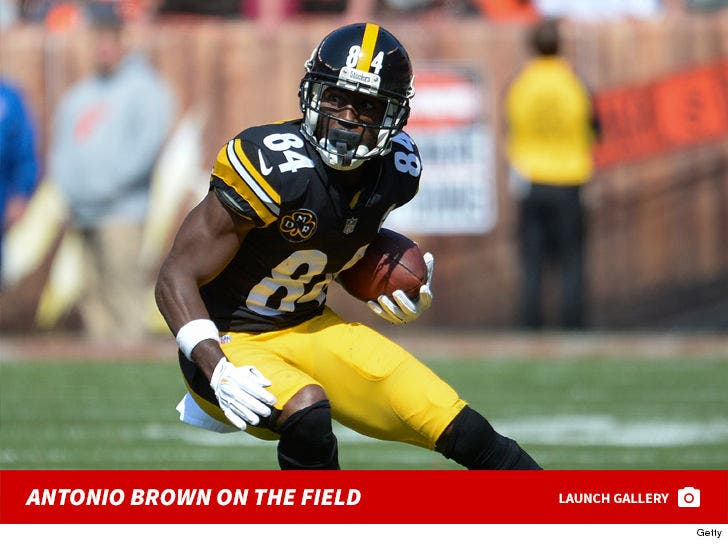 Antonio Brown On The Field