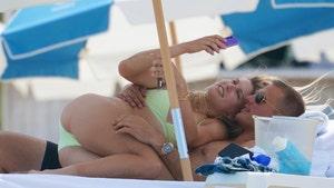 Genie Bouchard Cuddles With Hannah Davis' Brother in Miami