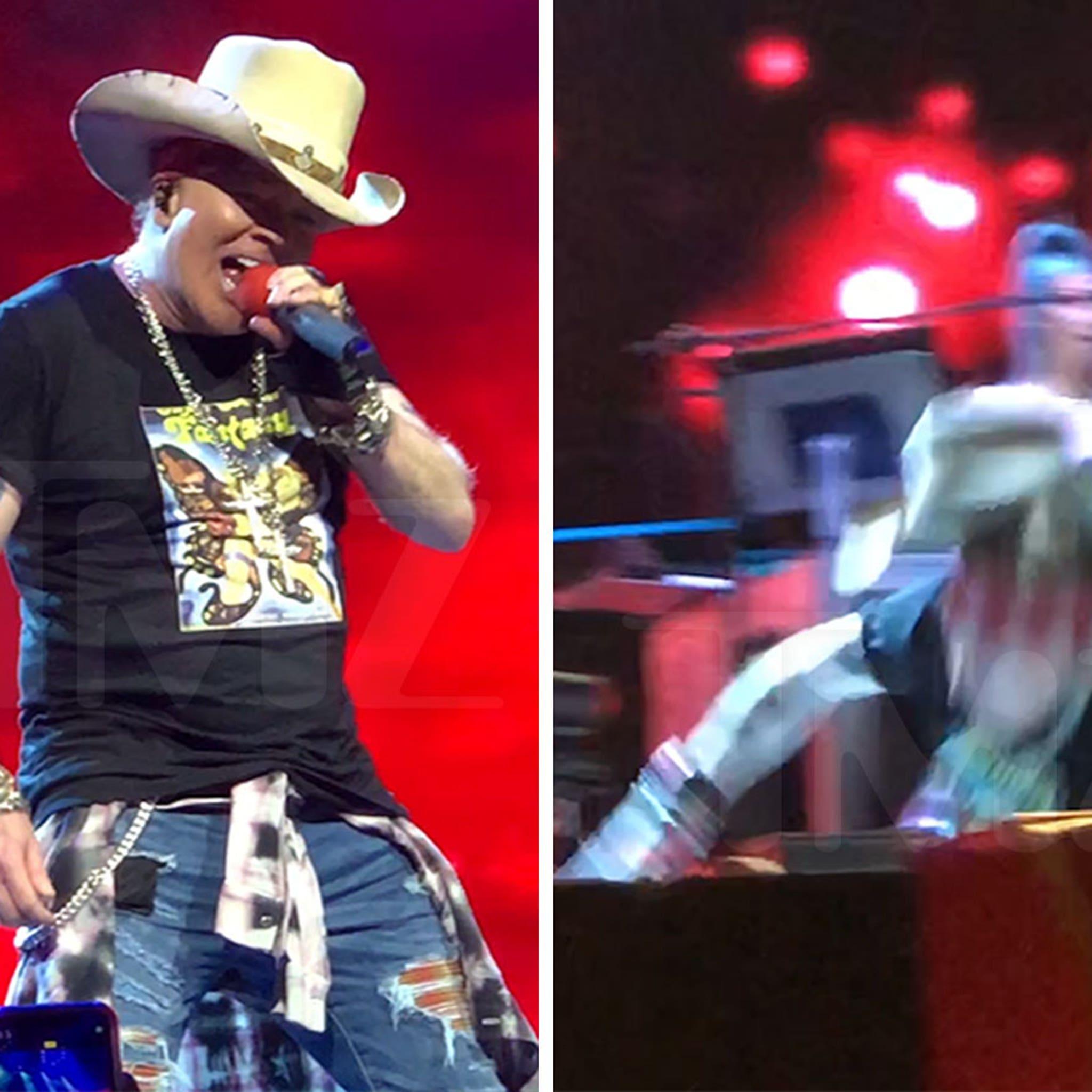 Axl Rose Takes Nasty Fall During Guns N' Roses Concert in Las Vegas