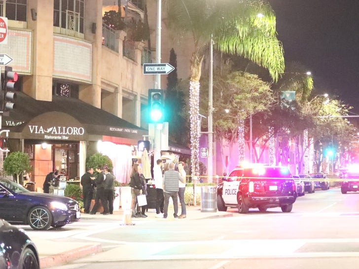 Police On The Scene at Via Alloro Restaurant in Beverly Hills