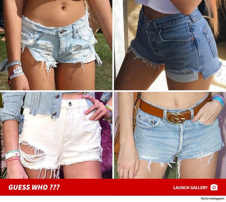 Stars Wearing Coachella Cut-Offs -- Guess Who!