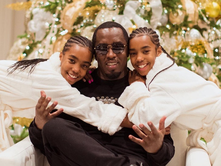 Image result for Diddy and his twins""