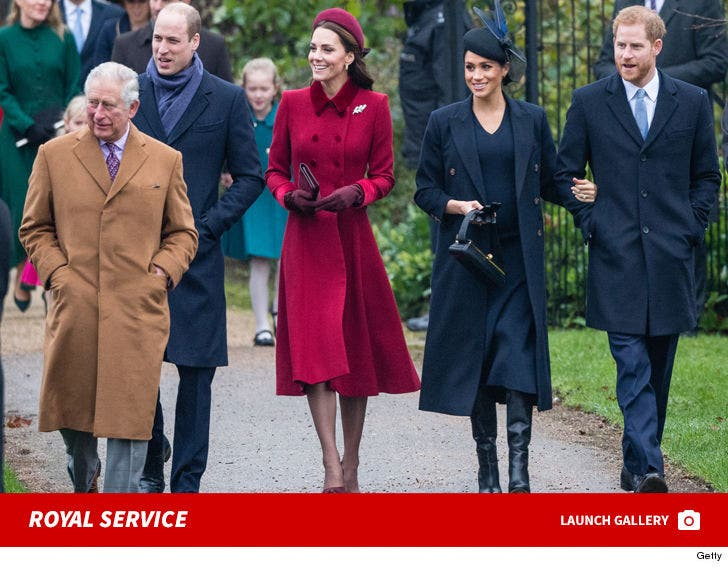 The Royal Family Attend Christmas Day Church Service