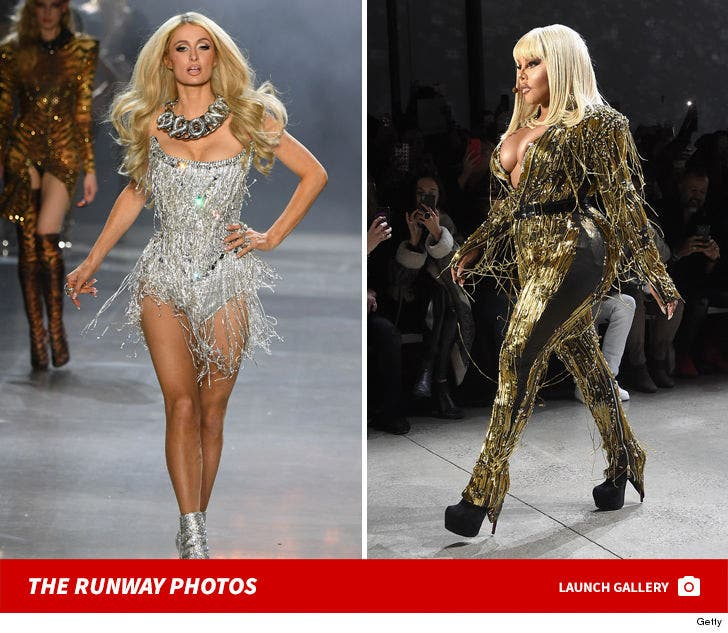 Paris Hilton And Lil' Kim Walk The Blonds Runway At NYFW