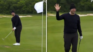 Tony Romo Sinks Epic Golf Shot At Pro Tourney, 30-Foot Eagle Chip-In!