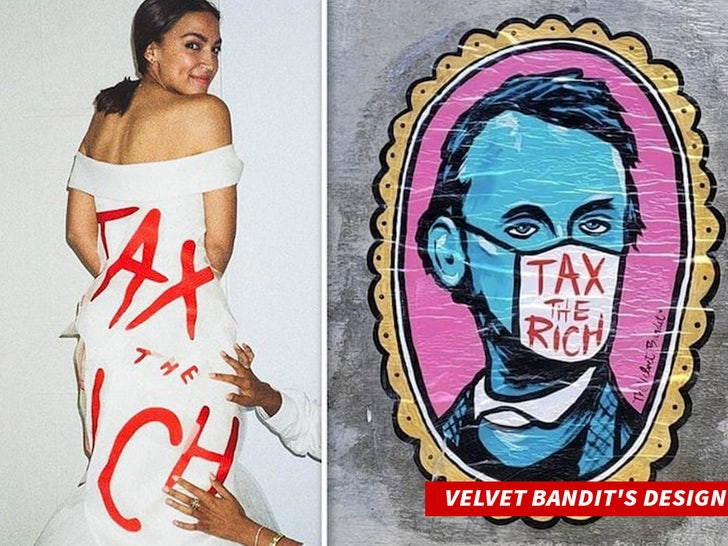 aoc Velvet Bandits Design tax the rich