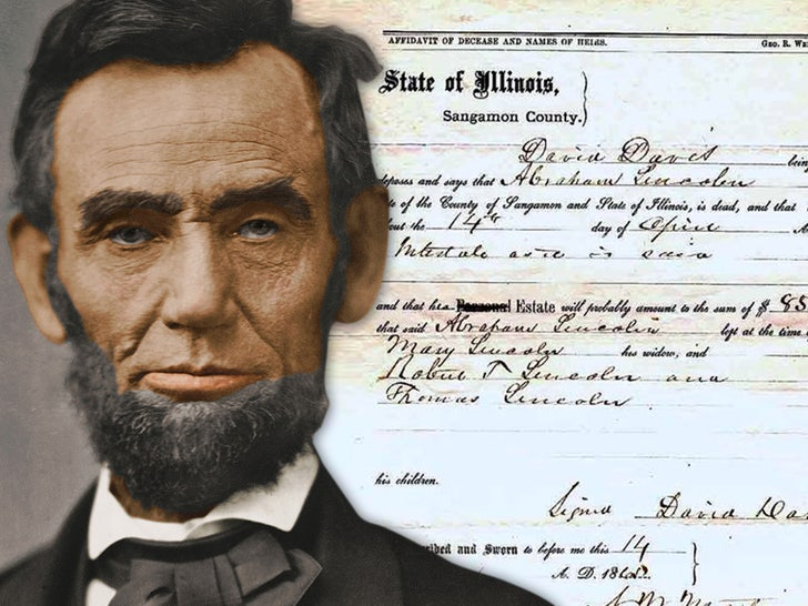 Abraham Lincoln's Death Certificate Going Up For Sale.jpg