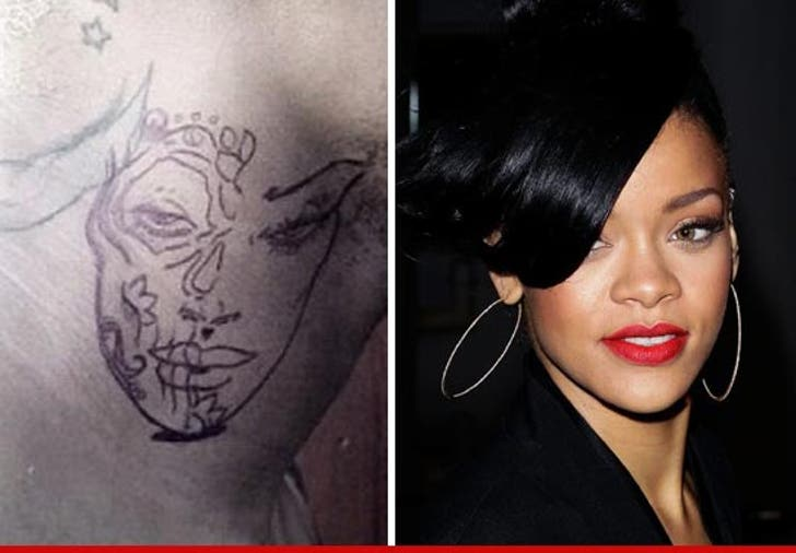 Chris Brown Did He Tattoo Rihanna On His Neck