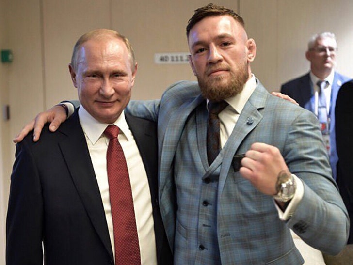 Conor Mcgregor Watches World Cup Final As Vladimir Putin S Guest