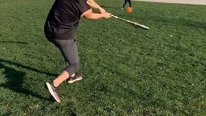 Derek Carr Hits Moonshot Home Run Off Toddler Son, 'Sorry Not Sorry!'