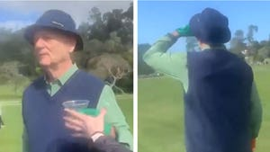 Bill Murray Rips Fan's Tequila Shot Mid-Round At Golf Pro-Am, Hilarious Video!