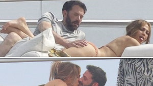 Ben Affleck Helps Himself to a Handful of J Lo as They Lay Out on Yacht