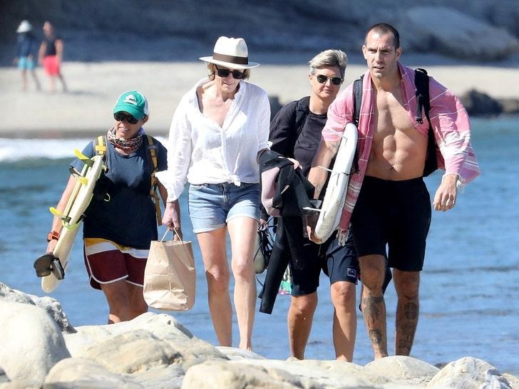 Robin Wright Hits Malibu Beach with Husband and Daughter