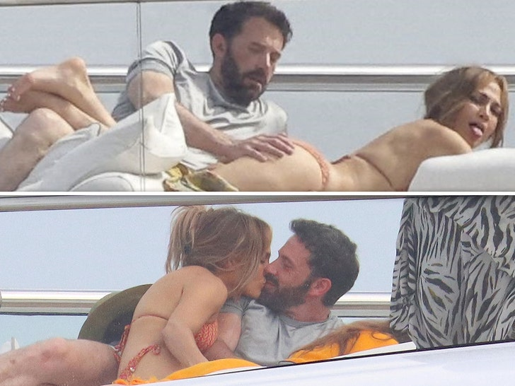 Ben Affleck Gets A Handful Of J Lo On A Yacht