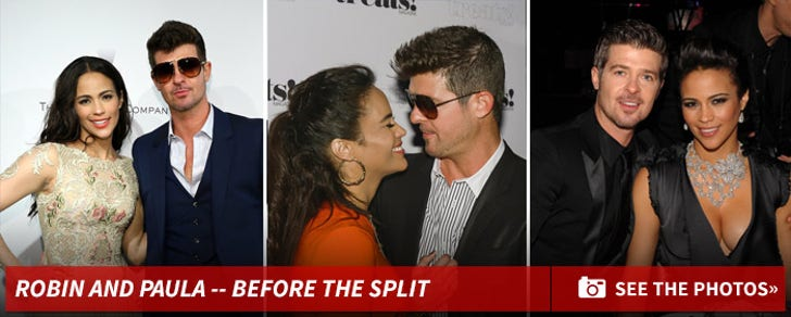Robin Thicke and Paula Patton -- Before The Split