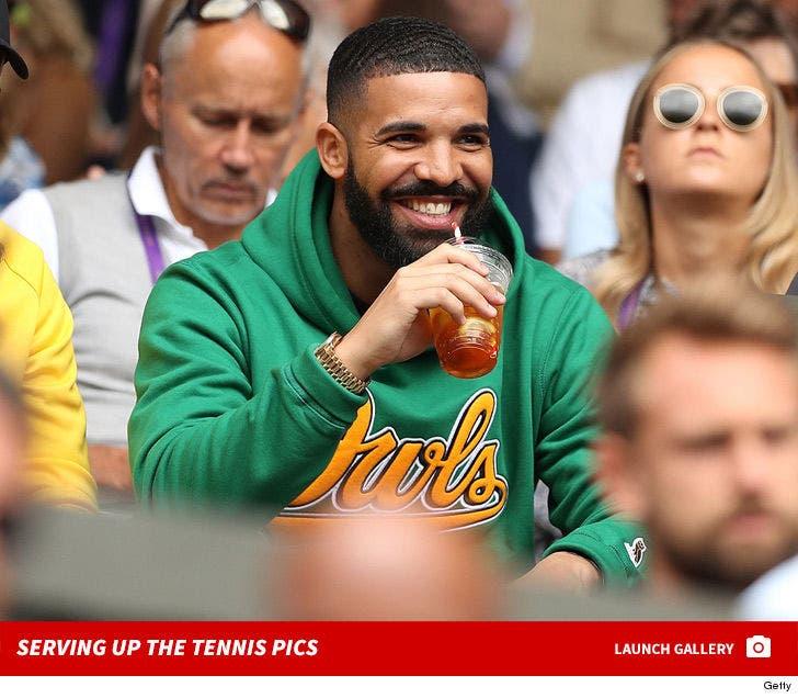 Drake Cheering On Serena Williams At Wimbledon