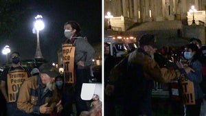 Amy Coney Barrett Confirmation Triggers Protest Outside Capitol Building