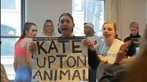 Animal Rights Activist to Kate Upton, 'Shame On You, You Murderer!'