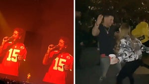 Post Malone Hosts KC Chiefs at Concert, Kelce & Mahomes Rage At Club After
