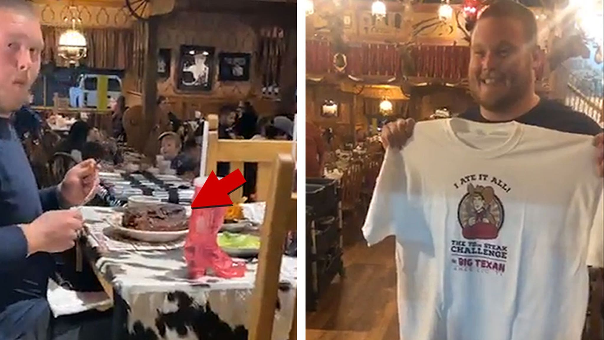 Ravens OL Bradley Bozeman Crushes 72-Oz Steak In Epic Food Challenge